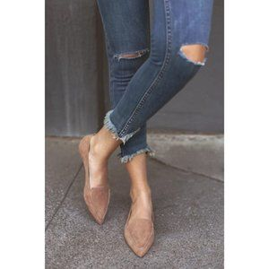 💕LULU'S💕 Emmy Camel Suede Pointed Loafers